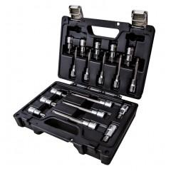 Assortimento di 18 chiavi a bussola per viti con impronta Torx in cassetta di