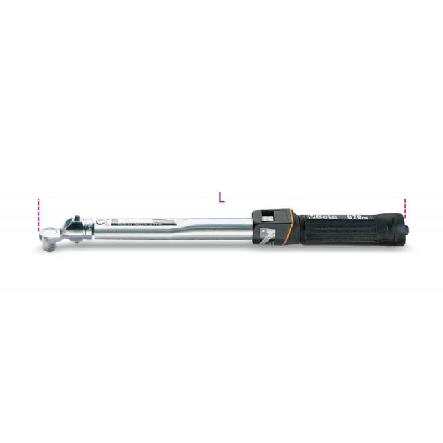 Chiavi dinamometriche a scatto con quadro maschio 3/8&rdquo per serraggi