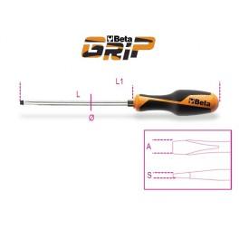Cacciaviti piatti con esagono di manovra Beta Grip 1260E