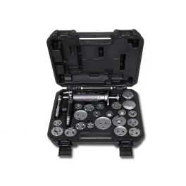 Series of 22 pneumatic tool for pushing back and rotating right and left disc brake pistons in plastic case 1471M/C22