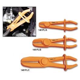 Serie di 3 pinze per occlusione tubi e manicotti in plastica 1481PL/S3