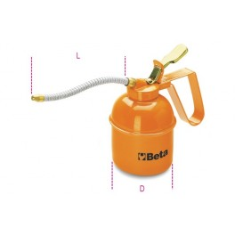 Metal pressure oil cans with flexible spout 1751