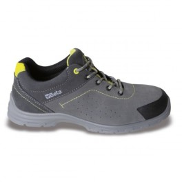 Suede shoe with mesh inserts, 7348RP