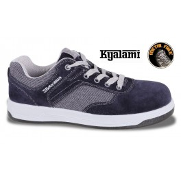 Suede shoe with canvas inserts, grey 7361GKK