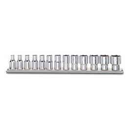 Sets of sockets wrenches 1/4 female drive on rail Beta Tools 900/SB